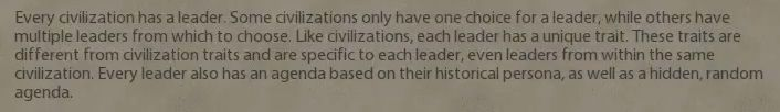 [Civ VI] We already assumed because of Greece but here's definite confirmation of multiple leaders in the Civilopedia. #CivilizationBeyondEarth #gaming #Civilization #games #world #steam #SidMeier #RTS