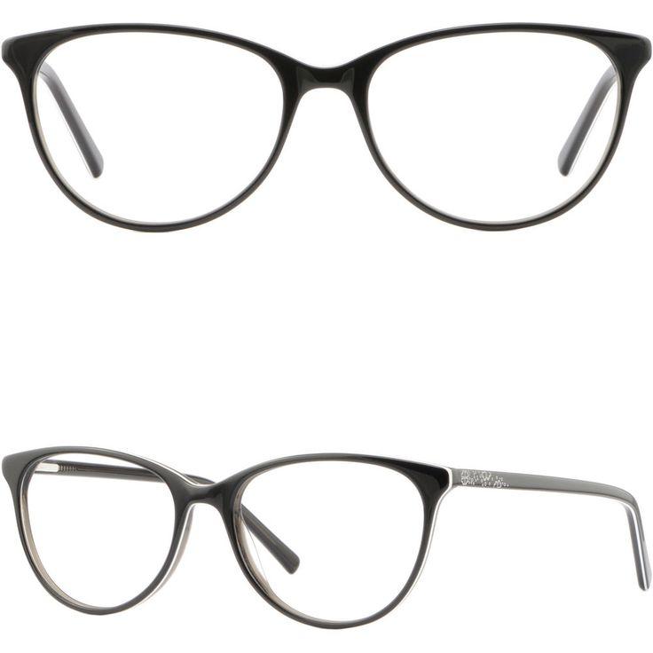 Cateye Womens Eyeglasses Plastic Frames Spring Hinges Prescription Glasses Black