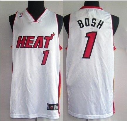 Miami Heat 01 Bosh White Jerseys Cheaps $18.99