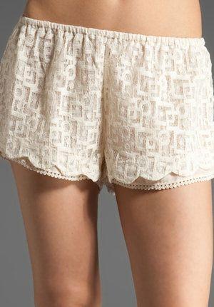 White Lace Sleep Shorts