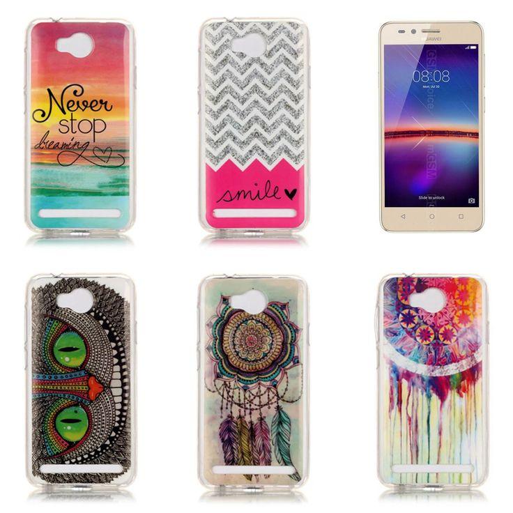 """Cute Cool for 4.5"""" Y3II Y 3 2 3G Luxury Quality IMD TPU Gel Soft Silicone Phone Bag for Huawei Y3 II Case Cover Skin Rilakkuma"""