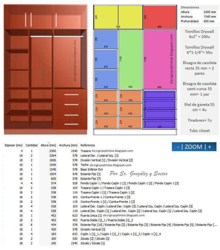 Diseños De Muebles: Armarios, Cocinas, Bibliotecas, Etc.: Modulo de Vestier Closet | Plywood, MDF, Aglomerado, Madera