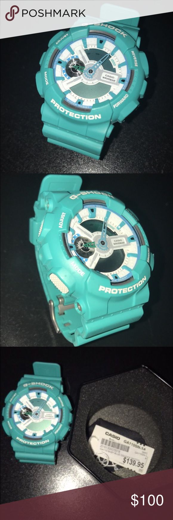 $139 dollars worth g-shock. In unique Matt color. Nice fashionable Matt color G-Shock. If you have any questions please text me . As well with question if your willing to get in a lower price. So please enjoy. G-Shock Accessories Watches
