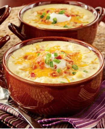 Give the stove the night off with this easy microwave recipe. You can sit down to a bowl of creamy, bacon-y potato soup in half an hour.