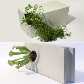 banc fuite et parpaingde la collection 'béton et objets' en ultrabéton®.