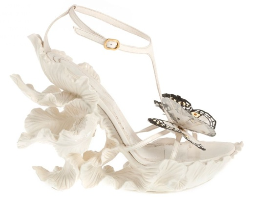 Delicate flowers and butterfly shoes