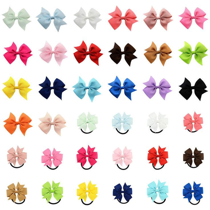 Cute Ribbon Bow Barettes Children Hair Clip Hairpins Baby Girl Ponytail Holder Elastic Hair Bands Rope Ties Kid Hair accessories