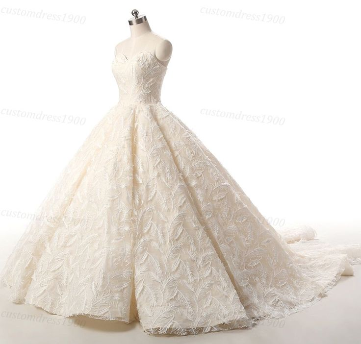 Vintage Lace Wedding Dress Handmade Beige Champagne Wedding Gowns Formal Bridal Gown Princess Luxury Puffy Feather Lace  Dress For Wedding by customdress1900 on Etsy https://www.etsy.com/uk/listing/475665536/vintage-lace-wedding-dress-handmade