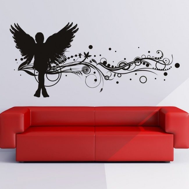 17 best images about angel wall decals on pinterest for Angel wall mural