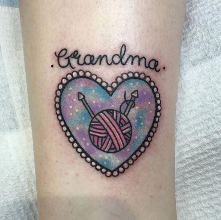 Grandma tattoo heart