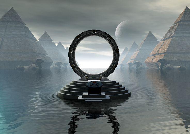stargate pyrAMID   Stargate ART LARGE A2 PRINT 'City Of Pyramids'   eBay