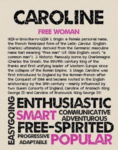meaning of the name caroline - Google Search