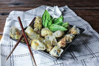Baked Rice Paper Rolls are like healthier, spicier versions of your favorite take-out pot stickers.