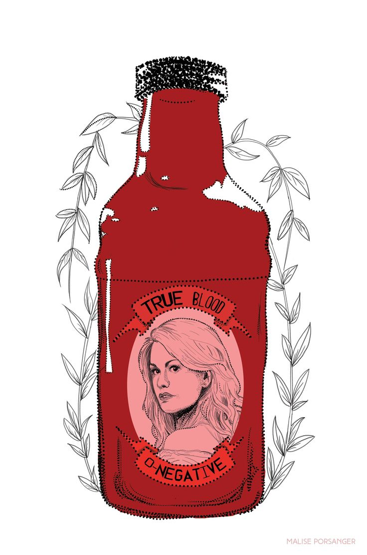 Sookie Stackhouse illustration - True Blood