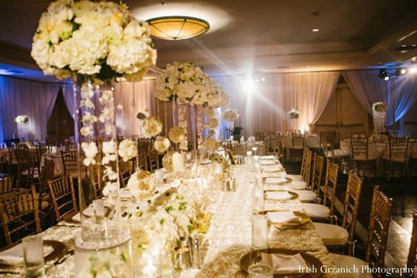 indian wedding reception table setting reception decor http://maharaniweddings.com/gallery/photo/4668