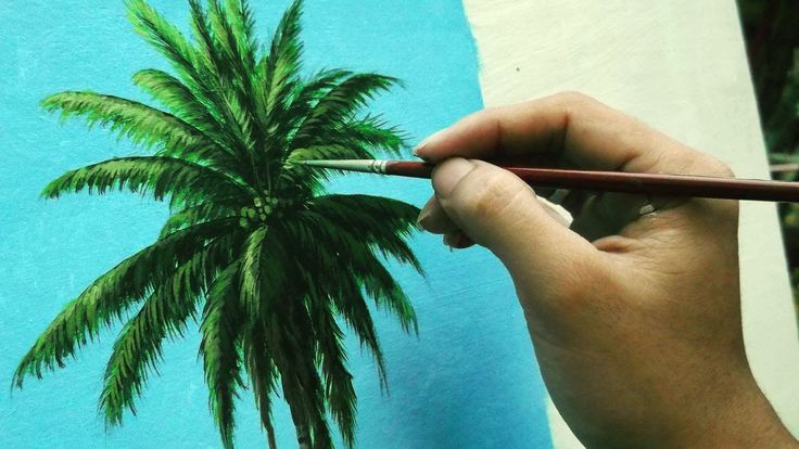 Learn How To Paint Coconut Tree – Instructional Acrylic Painting Lesson …