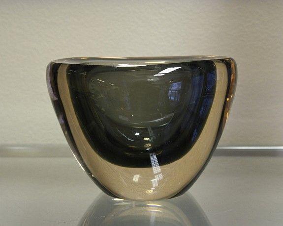 Vase. K5004. Jonas Hidle. Hadeland Glassverk. Sign: Hadeland 60 JH.