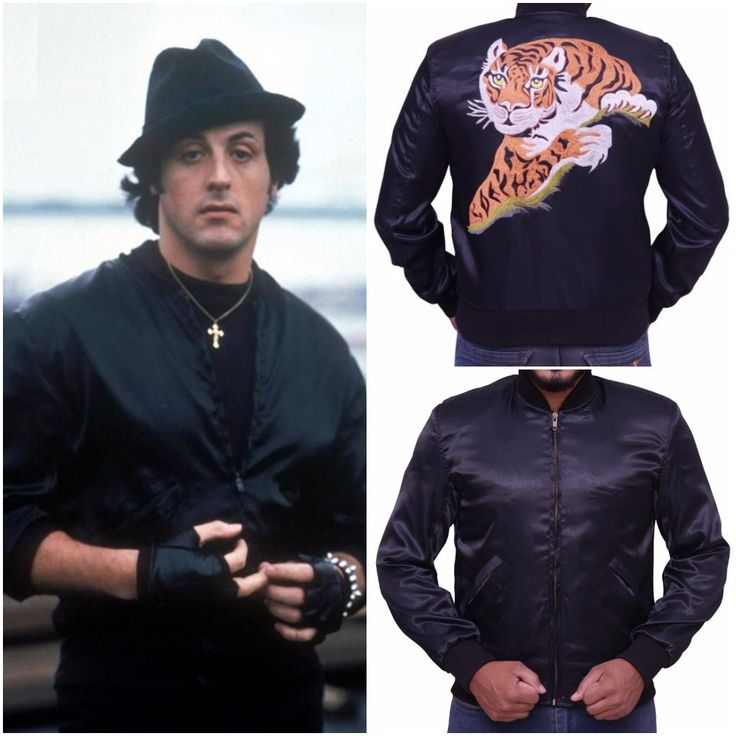 The Sylvester Stallone Rocky 2 Tiger Rocky Balboa jacket is fabricated using black colored satin material with an internal viscose lining. The American film of 1979 named Rocky II was a sequel of Rocky, which was released in 1976.
