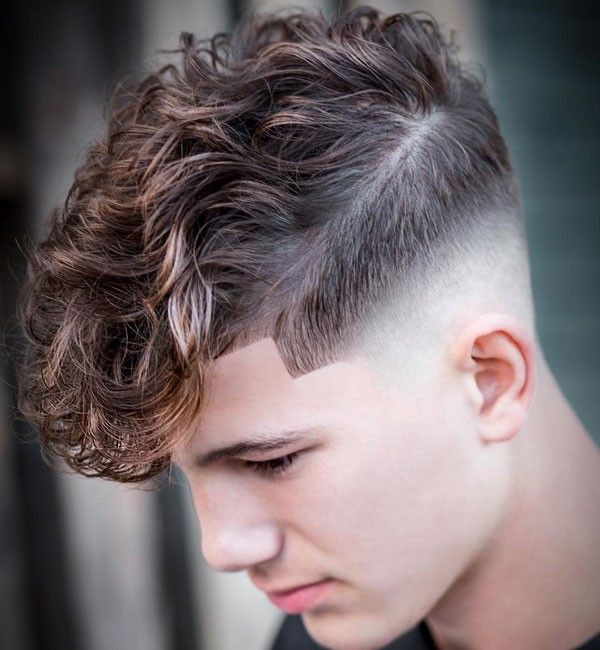 Hairstyle Curly Hair Styles Curly Hair Fade Haircuts For Men