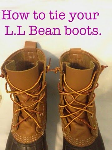 cheap athletic shoes for boys The Pink Caterpillar.: How to tie your bean boots! | Fashion |  | Bean Boots, Ties and Beans