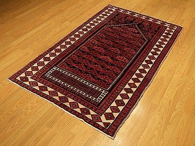 4 X 6 Handmade Afghan Beluch Vegetable Dye Fine Quality Wool Rug Mint Condition