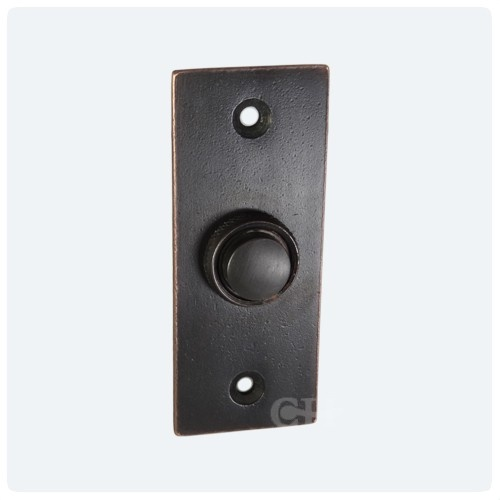 Door bell push in brass bronze chrome or nickel the for Door bell push