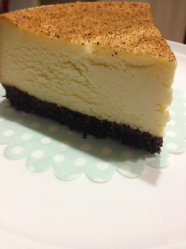 New York Baked Cheesecake slice - The 4 Blades
