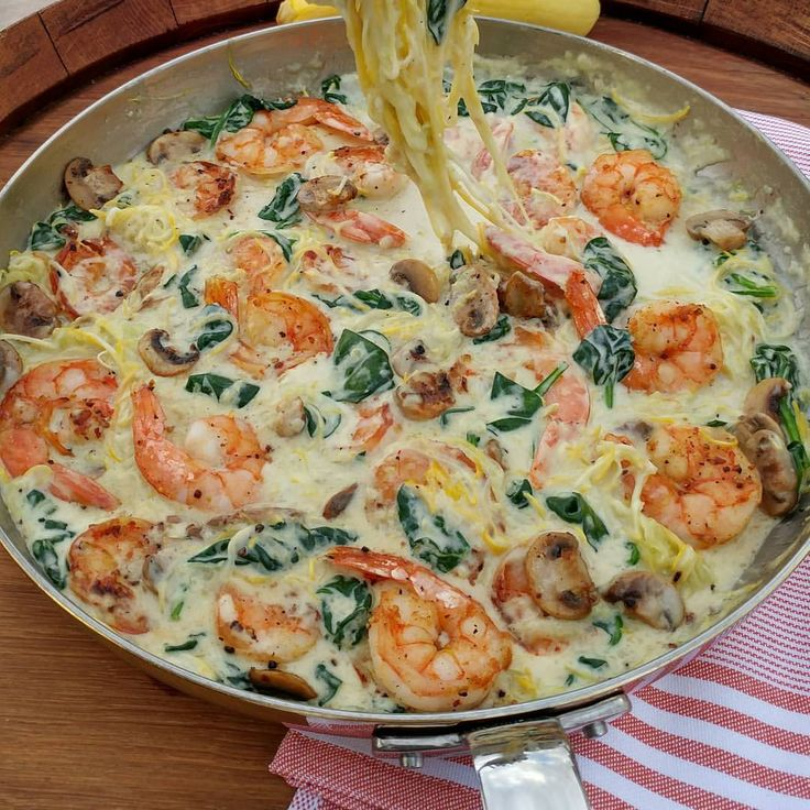 Creamy Shrimp and Zoodles