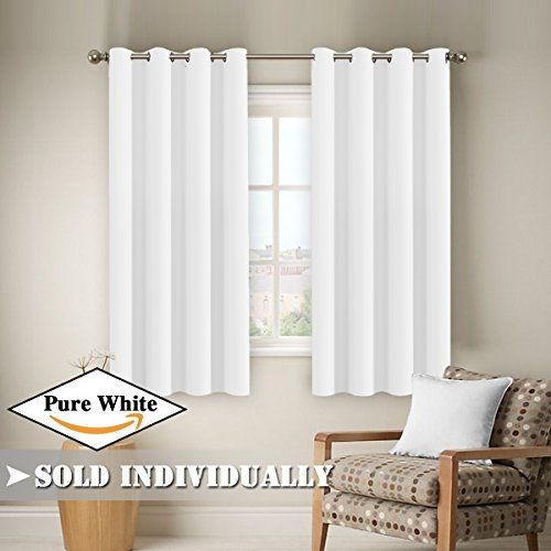FlamingoP Window Treatment Energy Saving Thermal Insulated Solid Grommet Blackout Curtains /Drapes for Living Room (One Panel, 52 by 63-Inch, Pure White) #FlamingoP #Window #Treatment #Energy #Saving #Thermal #Insulated #Solid #Grommet #Blackout #Curtains #/Drapes #Living #Room #(One #Panel, #Inch, #Pure #White)