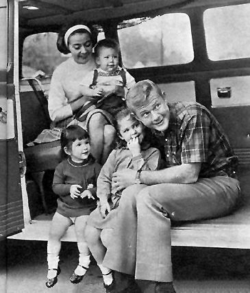 "Judy, Stuart, Molly, Amy, and Martin Milner  -  Mr. and Mrs. Martin Milner ""Sure, stardom is swell, but so much depends on luck and timing, things like that. Love and marriage don't depend on luck. Those you have to earn, but once earned, they're yours for life!""  -- Martin Milner, Screen Album, October 1961"