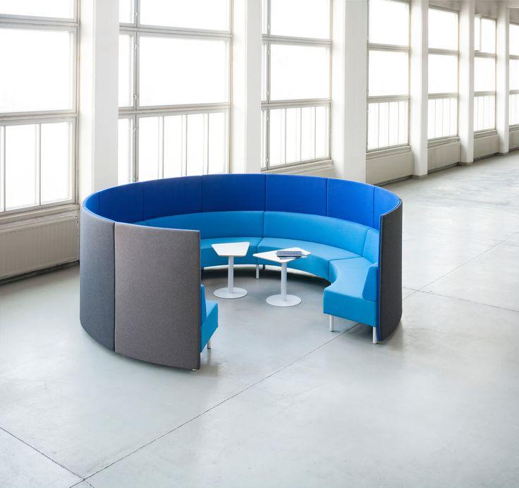 Kaari-sofa and Kivikko-table, Isku Office
