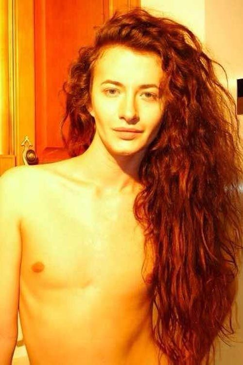 Transsexual beautiful hair