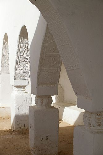 decorative arches, ghadames old town, libya.