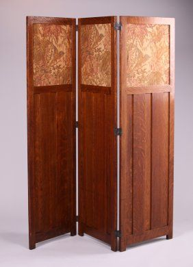 Gustav Stickley 3-Panel Screen #91                                                                                                                                                                                 More