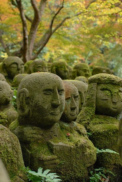 Stone sculptures of Rakan at Otagi Nenbutsu-ji, Kyoto