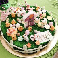 Torta primo compleanno in stile Pasqua #Pasqua #PrimoCompleanno #Compleanno #Idee #vocedimamma http://vocedimamma.com/blog