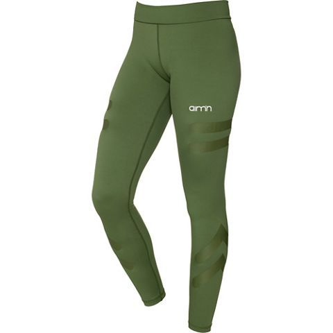 Green Tribe High Waist Tights Dame GREEN - small
