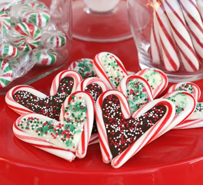 No - Bake Candy Cane Chocolate Filled Cookies
