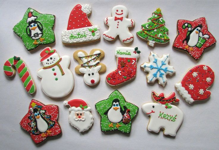 christmas cookies , christmas madagascar penguins cookies