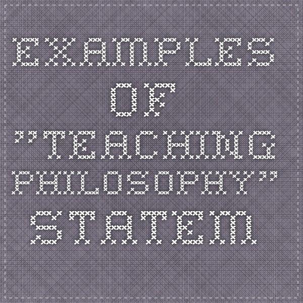personal teaching philosophy essay