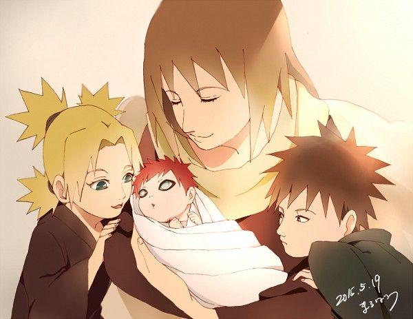 Little Gaara and his Mom and sibs   Naruto   Pinterest ... Gaara And Naruto Kids