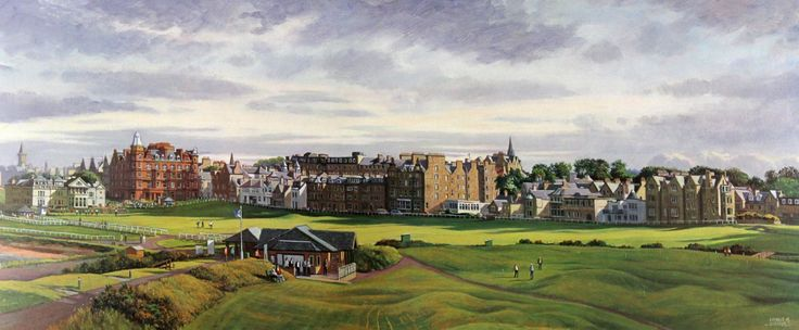 Donald Shearer St Andrews Old Course Signed Limited Edition Print 12x30 | Scottish Contemporary Art