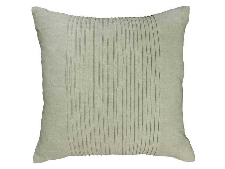 Virginia Pleated Taupe Cushion - A delicately pleated linen cushion in a natural taupe colour. Also available in a range of complementary colours.