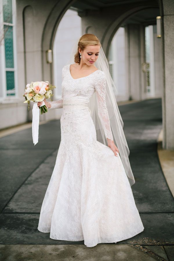 Modest Wedding Dresses With Sleeves Utah : Best images about mormon weddings