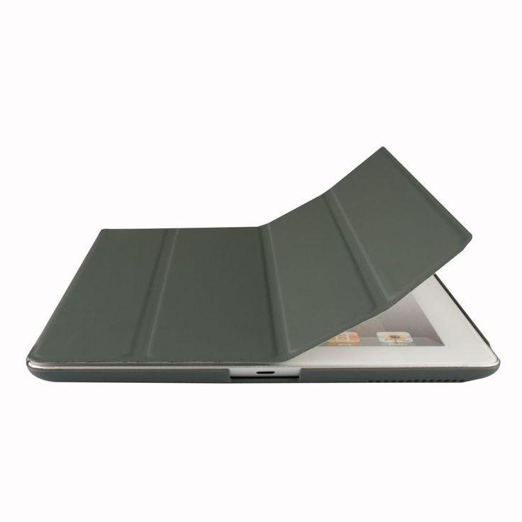 Funda para Apple iPad 2,iPad 3 y Nuevo iPad 4 Smart Case Cover(Gris Oscuro)