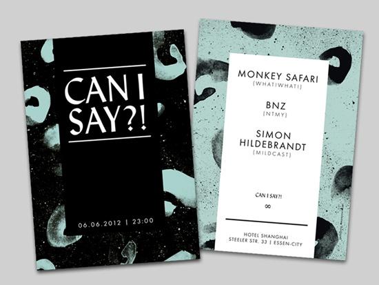 Flyer for Monkey Safari at Hotel Shanghai, Essen / by YAWN