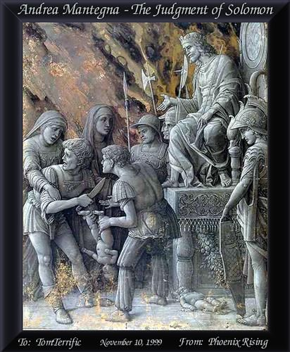 The Judgment of Solomon - Andrea Mantegna