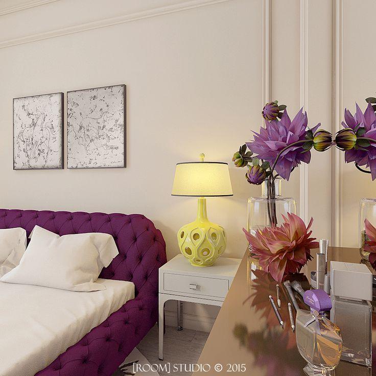 Дизайн интерьера в Казани. [Женская спальня.Детали] #roomstudiokazan #designinterior #bedroom #details #спальня #детали