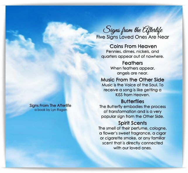 Signs From The Afterlife Five Signs Loved Ones Are Near ...