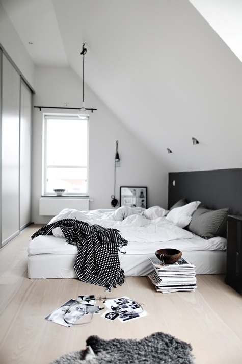 white grey bedroom with a slanted ceiling gorgeous love the bed right on bedroom grey white